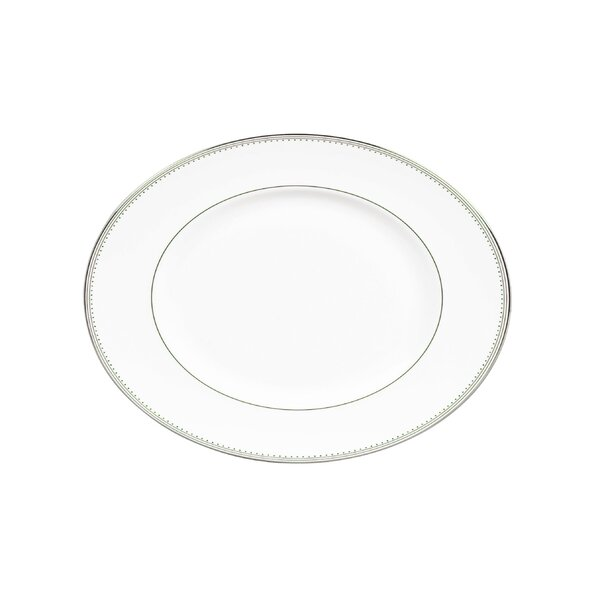 Grosgrain 13.75 Oval Platter by Vera Wang