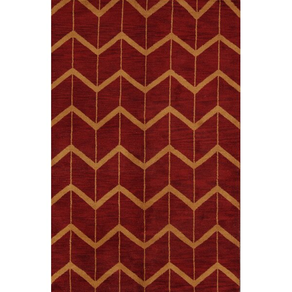 Ayler Oushak Oriental Hand-Knotted Wool Red Area Rug by Ivy Bronx