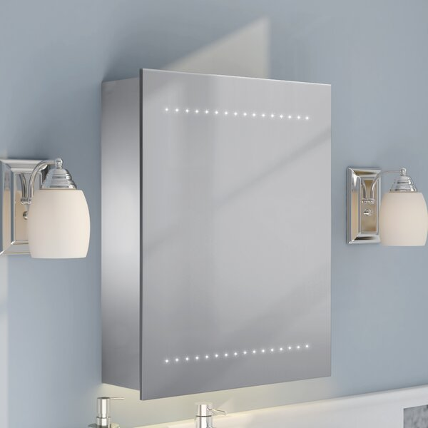 20 x 25 Surface Mount Medicine Cabinet with LED Lighting by Rebrilliant