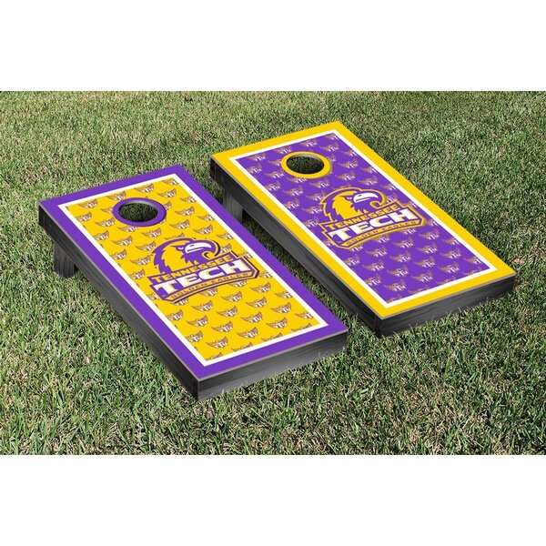 NCAA Border Paw Print Version Cornhole Game Set by Victory Tailgate