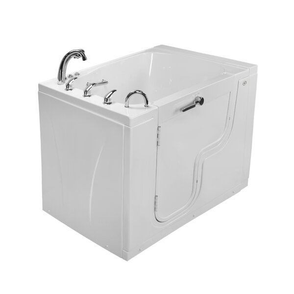 TransferXXXL Acrylic Massage Microbubble and Heated Seat 55 x 36 Walk-In Air Bathtub by Ella Walk In Baths