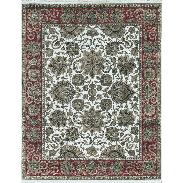 One-of-a-Kind Handwoven Wool Green/Red/Blue Indoor Area Rug by Bokara Rug Co., Inc.