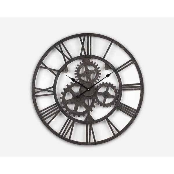 Bassett Wrought Iron Antique 30.1 Wall Clock by Williston Forge