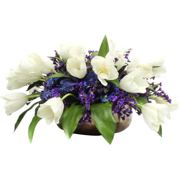 Faux Tulips Floral Arrangements by Dalmarko Designs