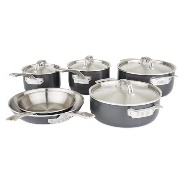10 Piece Stainless Steel Cookware Set by Viking