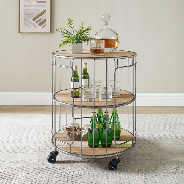 Peru Ani Three Tiered Rolling Bar Cart by Williston Forge Williston Forge