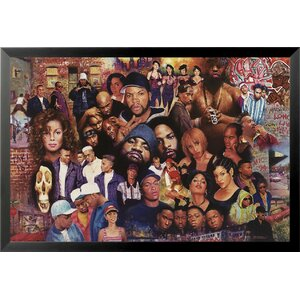 Famous Legends of 80's Rap and Hip Hop Painting Print Framed Poster by Buy Art For Less