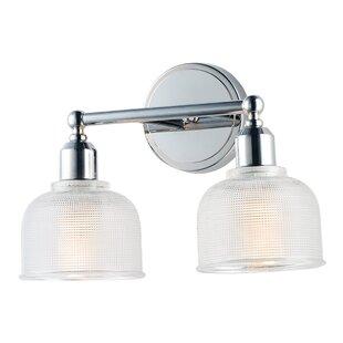 Reviews Huneycutt 2-Light Vanity Light By Charlton Home