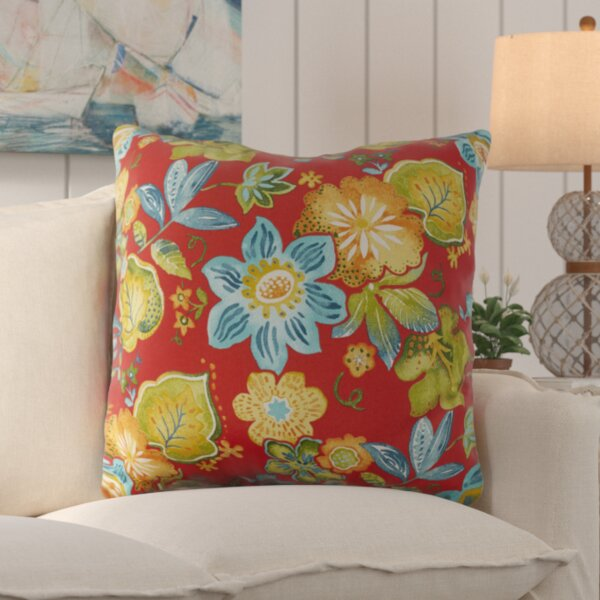 Mira Floral Floral Indoor/Outdoor Floor Pillow by Bay Isle Home