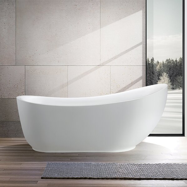 71 x 35 Freestanding Soaking Bathtub by Vanity Art