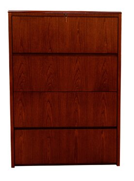 Waterfall Series 4 Drawer Lateral File by Carmel Furniture