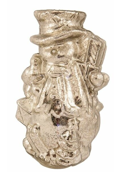 Mercury Glass Snowman Light by Pacific Accents