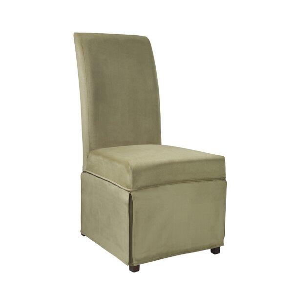 Velvet Skirted Box Cushion Dining Chair Slipcover by Powell Furniture