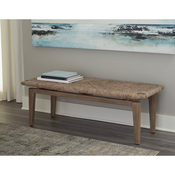 Vanowen Geometric Bench Sandstone by Bungalow Rose Bungalow Rose