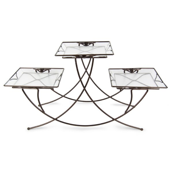 Triple Square Plant Stand by Plastec
