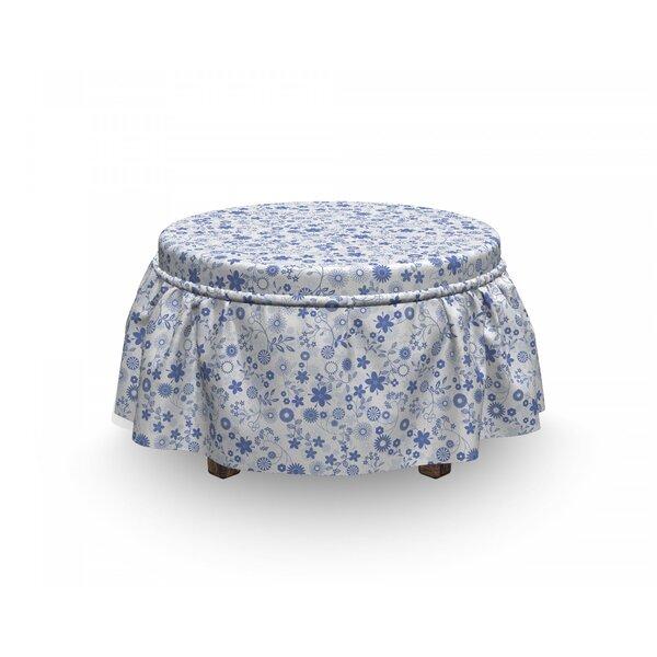Review Little Blossoms Romantic Ottoman Slipcover (Set Of 2)