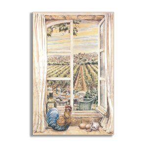 French Country Faux Window Scene Painting Wall Plaque by Stupell Industries