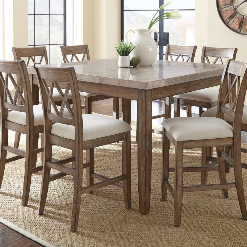 Lovely Portneuf 9 Piece Counter Height Dining Set