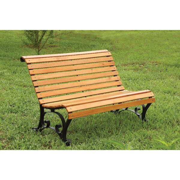 Upper Swainswick Patio Metal Park Bench by Millwood Pines