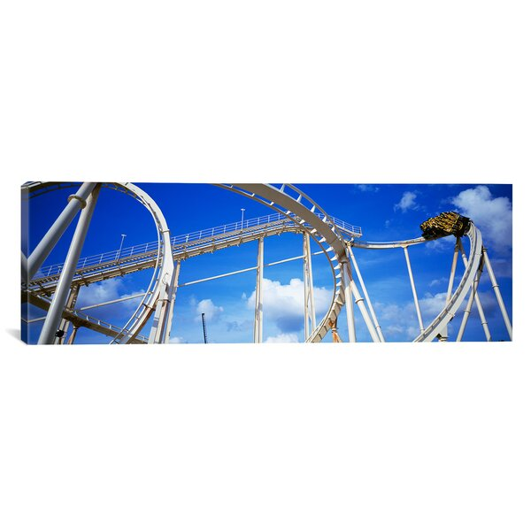 Panoramic Batman the Escape at Astroworld in Houston, Texas Photographic Print on Canvas by iCanvas