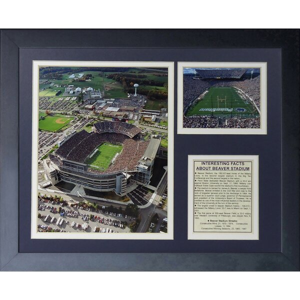 Penn State Nittany Lions Beaver Stadium Framed Photographic Print by Legends Never Die