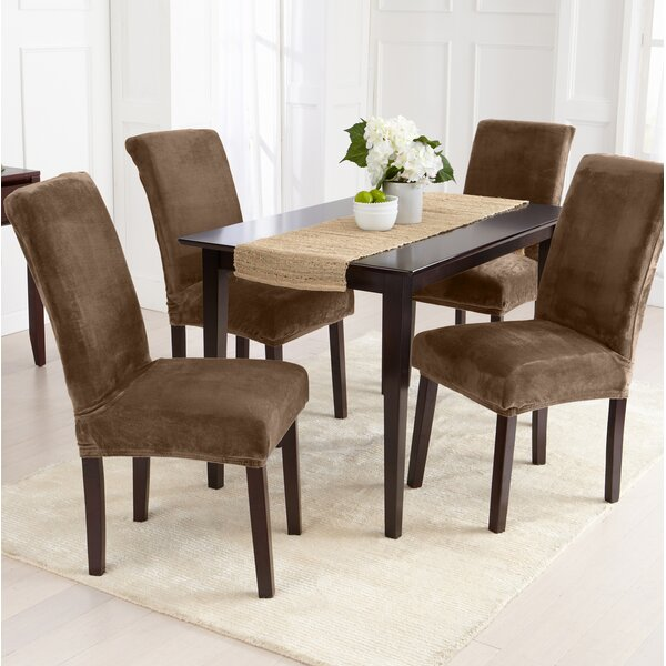 Velvet Plush Dining Chair Slipcover (Set Of 2) By Canora Grey Canora Grey
