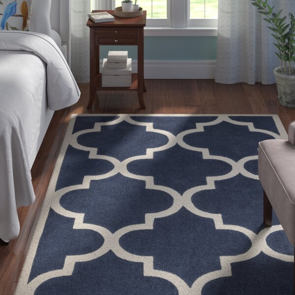 Duffield Ivory/Navy Geometric Rug by Andover Mills