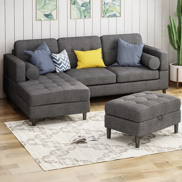 Kesgrave Left Hand Facing Sectional with Ottoman by Three Posts