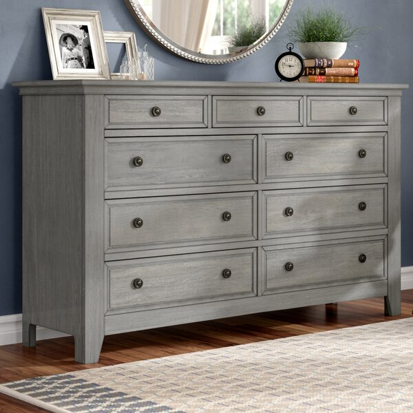 Woodside 9 Drawer Dresser with Mirror by Three Posts Three Posts