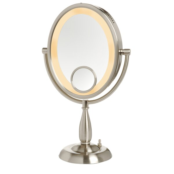 Oval Lighted Table Top Mirror by Jerdon