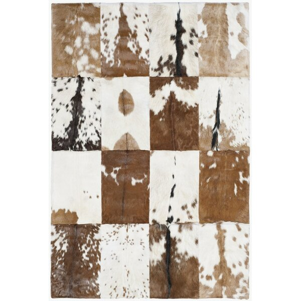 Stasia Hand-Woven Ivory/Tan Area Rug by Union Rustic