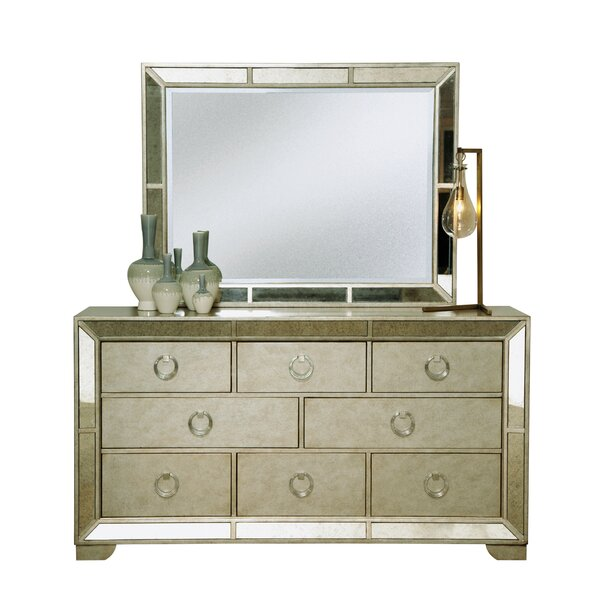 Halstead 8 Drawer Dresser with Mirror by House of Hampton