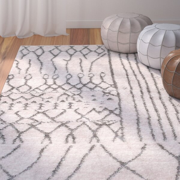 Cason Light Beige Area Rug by Bungalow Rose