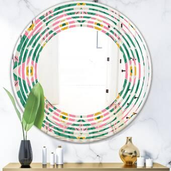 World Menagerie Marlar Round Cottage Wall Mirror Wayfair Ca