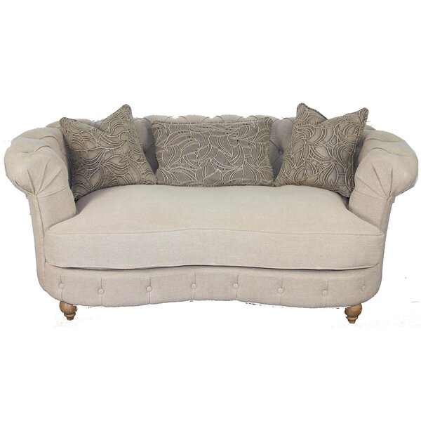 Wigfall Chesterfield Loveseat by House of Hampton