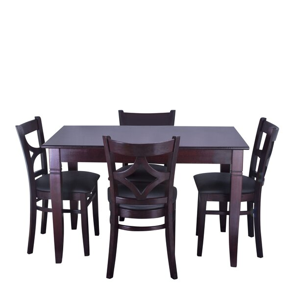 Mignone 5 Piece Solid Wood Dining Set by Bloomsbury Market