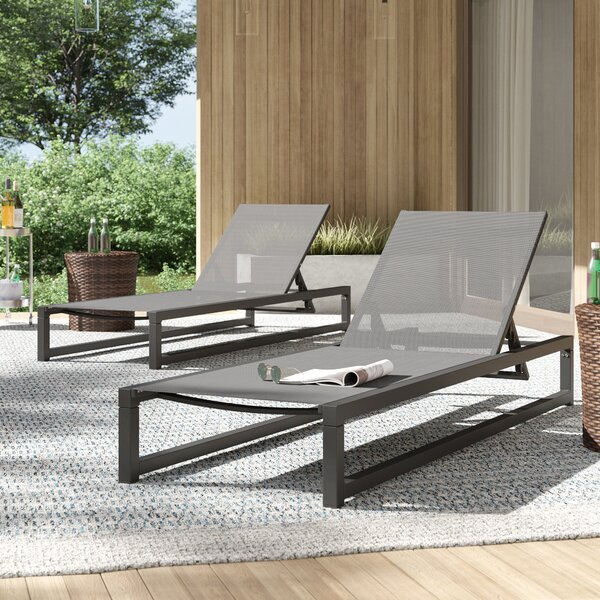 Lindenberg Reclining Chaise Lounge Set (Set Of 2) By Mercury Row