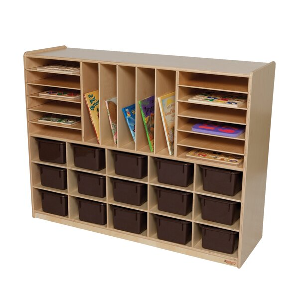 Natural Environment 32 Compartment Cubby by Wood Designs
