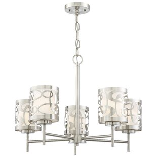 Find for Drew 5-Light Shaded Chandelier By Latitude Run