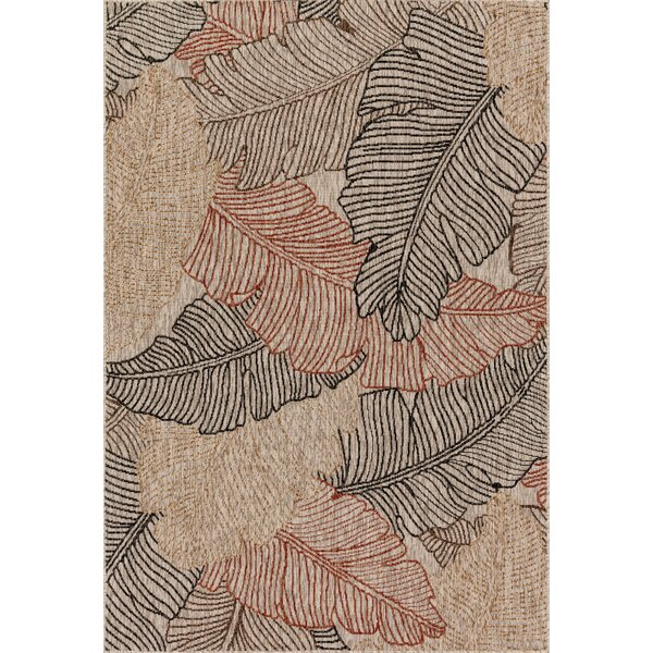 Summerfield Beige Indoor/Outdoor Area Rug by Bay Isle Home