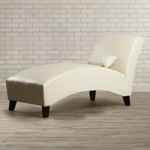 Brennan Leather Chaise Lounge By Wrought Studio