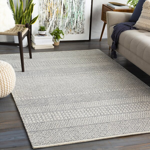 Pittsfield Hand Tufted Wool Gray Area Rug by Joss & Main
