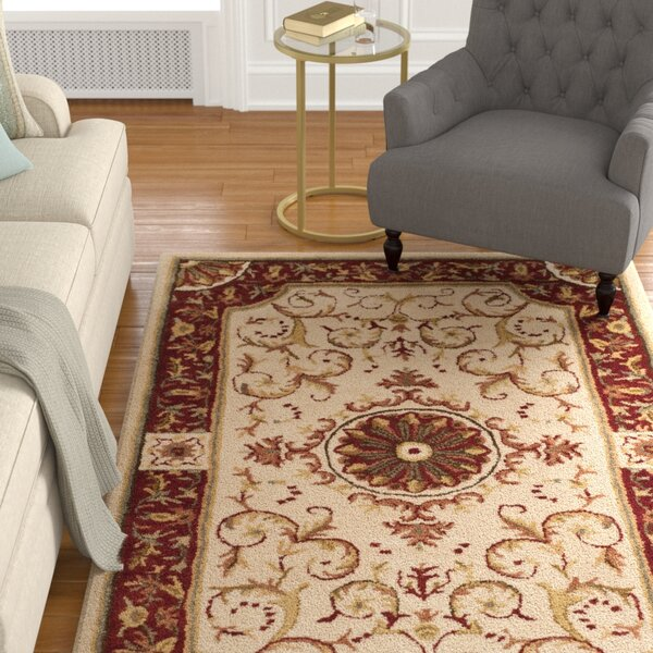 Latarra Hand Tufted Wool Ivory Area Rug by Astoria Grand