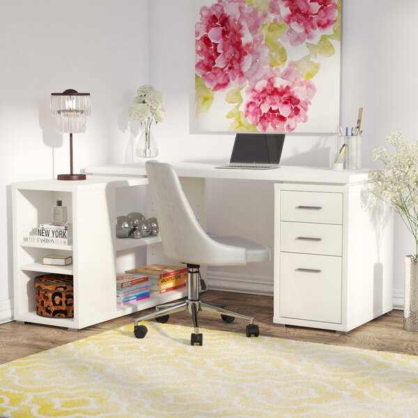 Drewes L-Shaped Desk by Willa Arlo Interiors