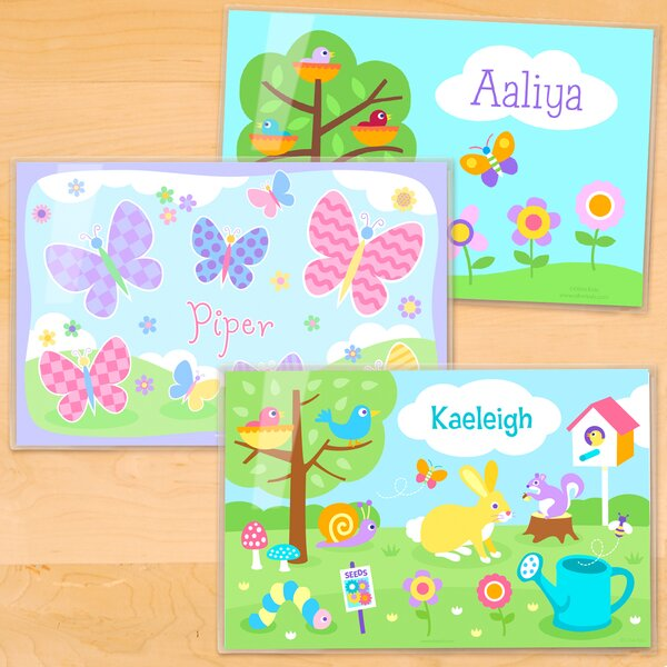 Spring 3 Piece Personalized Placemat Set by Olive Kids