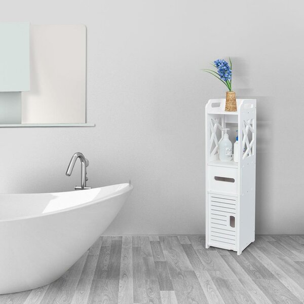 Seagoville 7'' W x 32'' H x 8'' D Free-Standing Bathroom Shelves