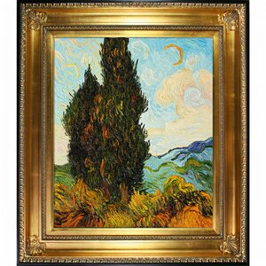 Two Cypresses by Vincent Van Gogh Framed Painting by Wildon Home ®