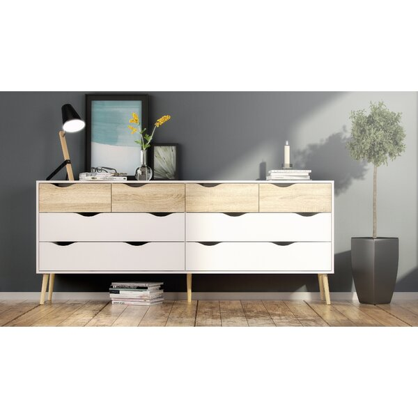 Dowler 8 Drawer Double Dresser by Hashtag Home