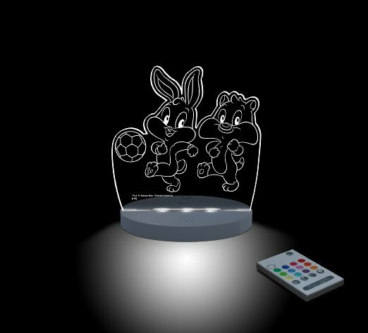 Warner Bros. Looney Tunes, Baby Bugs and Baby Sylvester Playing Soccer Night Light by CompassCo