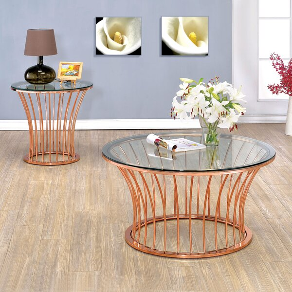 Elene 2 Piece Coffee Table Set by Mercer41 Mercer41